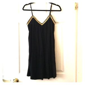 Black Dress w Gold Details